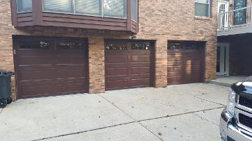 newly installed doors for garage